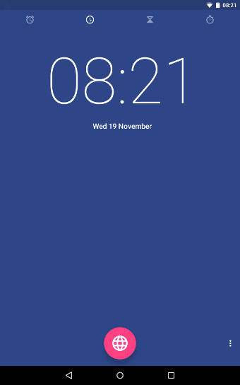 Android Lollipop Clock